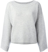 Vince drop shoulder oversized knit top - women - Cashmere - S