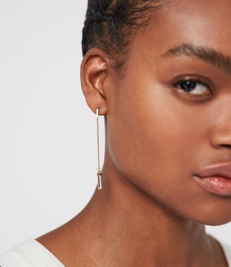 AllSaints Faith Gold Tone Semi-Precious Crystal Quartz Mismatch Earrings