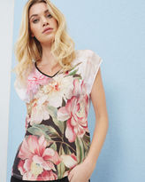 Ted Baker Painted Posie woven Tshirt