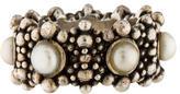 Stephen Dweck Beaded Pearl Ring