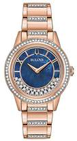 Bulova 98L247 Turnstyle Rose Gold and Swarovski Crystals Women's Watch