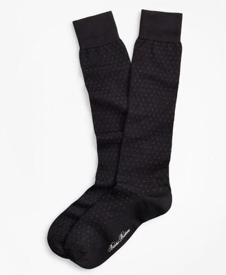Brooks Brothers Polka Dot Over-the-Calf Socks