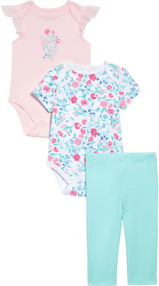 Little Me Floral 2-Pack Bodysuits & Leggings Set