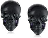 "Tarina Tarantino Classic"" Lucite Skull Post Earrings"
