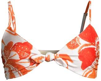 Mara Hoffman Carla Floral Triangle Bikini Top