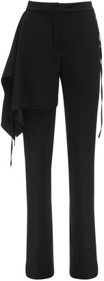 Atlein Draped Satin Crepe Tailored Pants