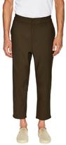 Balenciaga Solid Cotton Trousers