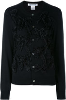 Comme des Garcons round neck cardigan - women - Cotton/Polyester/Wool - XS