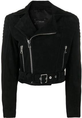 Manokhi Belted Biker Jacket