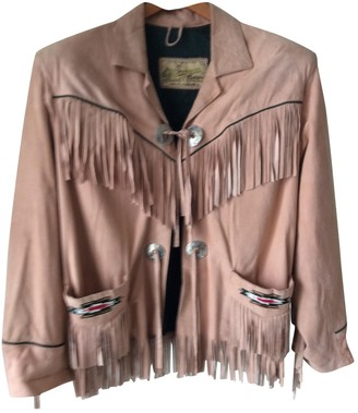 Chevignon Pink Suede Jacket for Women Vintage