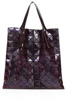 Bao Bao Issey Miyake Prism Basic Faux Metallic Leather Tote