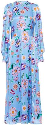 Olivia Rubin Marley Floral-print Silk-satin Maxi Dress