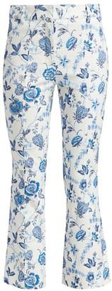 Derek Lam 10 Crosby Meloe Floral Cropped Flare Trousers