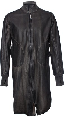 Isaac Sellam Green Leather Coat for Women