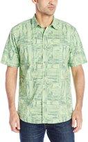 G.H. Bass Men's Short Sleeve Explorer Sportsman Printed Shirt