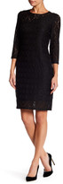 Laundry by Shelli Segal Geo Lace Dress (Petite)
