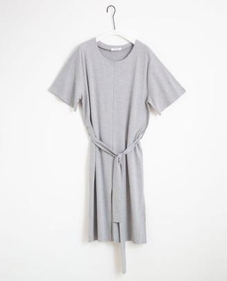Beaumont Organic Juliet Lou Lyocell Jersey Dress In Light Grey Marl - Light Grey Marl / Extra Small
