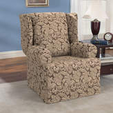 Sure Fit Scroll Classic Wing Chair T Cushion Skirted Slipcover