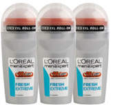 Loréal Paris Men Expert L'Oreal Paris Men Expert Fresh Extreme Deodorant Roll-On (50ml) Trio