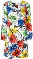 Moschino floral print longsleeved dress - women - Silk/Polyester - 40