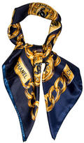 Chanel Chain-Link Print Scarf