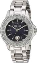 Versus By Versace Women's SGM250015 Tokyo Crystal Analog Display Quartz Silver Watch