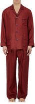 Barneys New York Men's Silk Pajama Set-Red