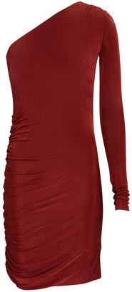 Alix Jordan Ruched One-Shoulder Dress