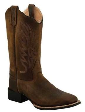 Oldwest Old West Women's Broad Square Toe Cowboy Boots