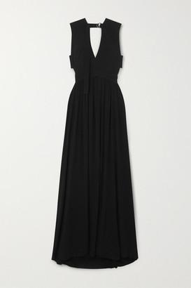 Proenza Schouler Cutout Crepe Maxi Dress - Black