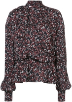 Magda Butrym Cali Long-Sleeve Tie Neck Floral Blouse