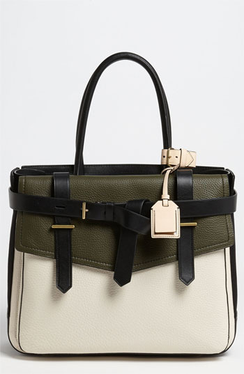 Reed Krakoff 'Boxer I' Leather & Canvas Satchel