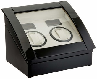 Lindberg & Sons Watch winder Black for 2 self-winding watches UB8057blcr