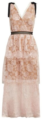 Self-Portrait Lace Starlet Mini Dress