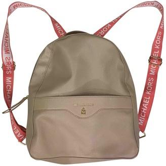 Michael Kors Pink Leather Backpacks