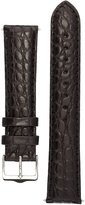 Signature Desire in watch band. Replacement watch strap. Genuine Alligator Leather. Silver buckle