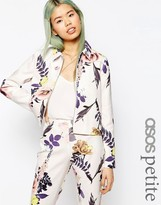 Asos Textured Large Floral Blazer Co-Ord