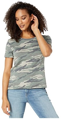 LAmade Edith French Terry Crew Tee (Camo) Women's Clothing