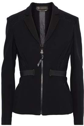 Versace Mesh-trimmed Stretch-crepe Jacket