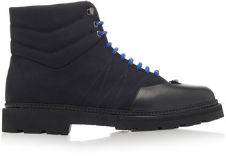 Bally Zeber Leather-Paneled Suede Boots