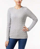 Charter Club Embellished Cable-Knit Sweater, Only at Macy's