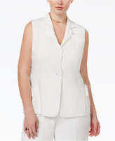 Rachel Roy Curvy Trendy Plus Size Lace-Up Vest