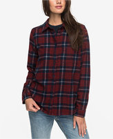 Roxy Juniors' Heavy Feelings Cotton Plaid Shirt