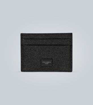 Dolce & Gabbana Dauphine leather card holder