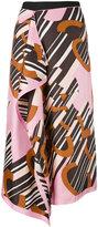 Carven logo print handkerchief skirt - women - Silk/Polyester/Acetate - 36