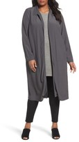 Eileen Fisher Plus Size Women's Open Front Duster Jacket