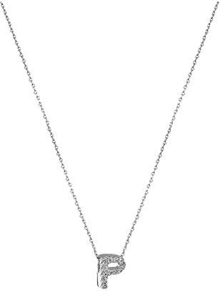Roberto Coin Diamond Initial Necklace (White Gold-P) Necklace