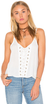 Bishop + Young Lace Up Tank in White. - size XS (also in )