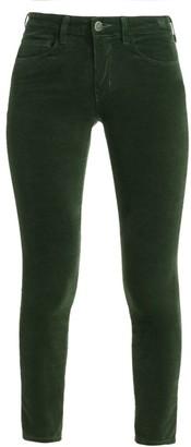 L'Agence Margot High-Rise Velvet Skinny Ankle Jeans