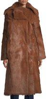 Tory Burch Anya Long Goat Fur Coat
